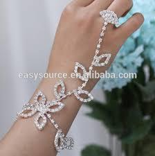 bracelet chain ring images Leaf design wedding finger chain ring bracelet slave bracelet with jpg