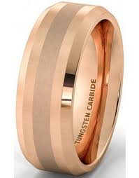 Rose Gold Wedding Ring by Tungsten Rose Gold Wedding Bands For Men American Tungsten Carbide