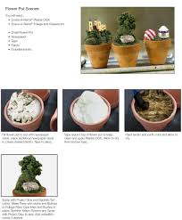 small flower pot flower pot diorama project how to diorama display
