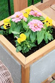 Home Depot Flower Projects - ana white home depot dih workshop modern paver planter diy