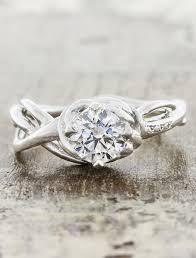 nature inspired engagement rings landress sculptural organic shaped ring ken design