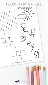 road trip games for kids free printable meredith collie paper