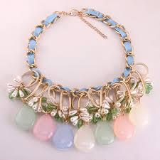 light blue statement necklace chunky light blue statement necklace gold trend wholesale
