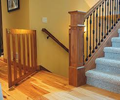 Child Safety Gates For Stairs With Banisters Custom Gates Are An Easy Addition To New Construction And Pre