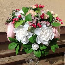 gardenia bouquet gardenia with raspberry berries shop online on livemaster with