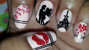 sealed with a kiss romantic paris themed nail art youtube