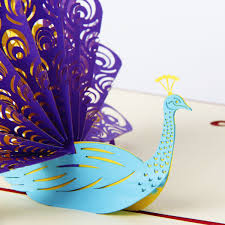 thanksgiving message to my boyfriend amazon com paper spiritz peacock pop up birthday card for wife
