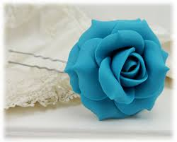 turquoise roses turquoise hair pins turquoise hair