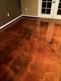 epoxy flooring baton la brown copper metallic marvelous