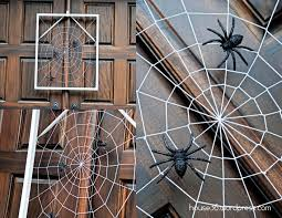 backyard halloween decorations collection decorating with spider webs for halloween pictures 123