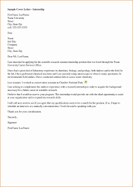 cover letters for internships cover letter research internship gallery cover letter sle