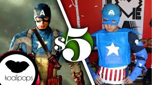 halloween costumes captain america avengers captain america 5 costume how to youtube
