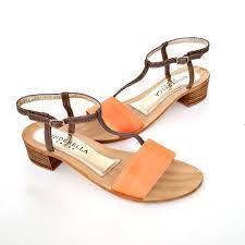 feminine summer sandal orange cinderella shoes 9uk 10uk