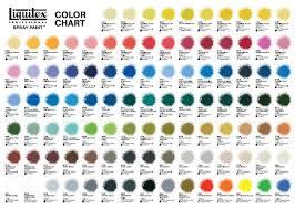 liquitex spray paint color chart ideas liquitex professional