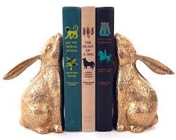 rabbit bookends rabbit bookends