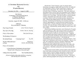 template for memorial service program best photos of free sle memorial service template free