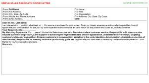 macy sales associate cover letter