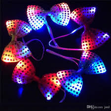 light up bow tie 2018 kids fun led light up flash sequin bowknot bow tie fancy
