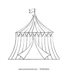 circus tent vector sketch icon isolated stock vector 432036907