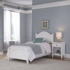 White Twin Bed Home Styles Furniture Bermuda White Twin Bed And Night Stand