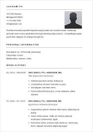 Free Templates For Resume Basic Template For Resume Best Resume Collection