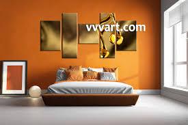 5 piece yellow canvas music multi panel art bedroom wall art 5 piece canvas art prints note canvas print music artwork