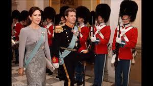 danish royal family at diplomatic reception at christiansborg