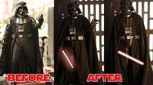 darth vader halloween costume the ultimate 1 6 scale darth vader part 3 fixing the costume