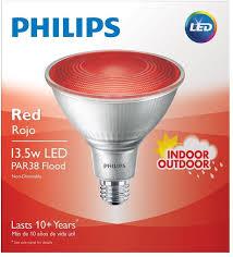 red led flood light philips 90w equivalent par 38 red led flood light bulb reflector