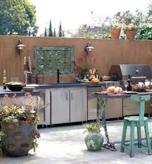 Outdoor Kitchen Stainless Steel Cabinets 95 Cool Outdoor Kitchen Designs Digsdigs