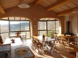 salle a manger provencale gîte de groupe ferme du casage à eygalayes en drome provencale la