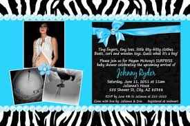 turquoise blue u0026 zebra print baby shower invitation birthday unisex