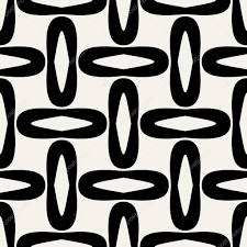 1960s Design Abstract Geometric Background Modern Seamless Pattern 1950s