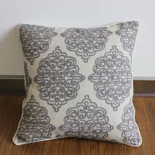 decorative sofa pillows aliexpress com buy vezo home grey crewel embroidered vintage