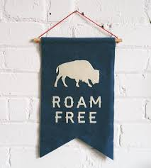 Buffalo Home Decor Roam Free U0026 Buffalo Felt Banner Home Decor U0026 Lighting Allison