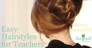 easy hairstyles for busy teachers with long or medium length hair