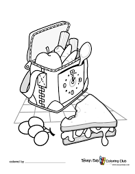 picnic basket free coloring pages on art coloring pages