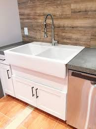 Farm Sink With Backsplash by Retrofitting A Cabinet For A Farm House Sink Bower Power