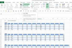 how to create a table in access combine multiple tables with excel power query access analytic