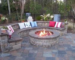 Outdoor Fire Place by Backyard Landscape And Patio Design With Outdoor Fireplace Ideas