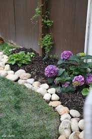 Define Backyard River Rock Planter Border Rock Border Planters And Gardens