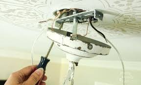 Replacing A Ceiling Light Fixture Light Fixture Box How To Install A Chandelier How To Install
