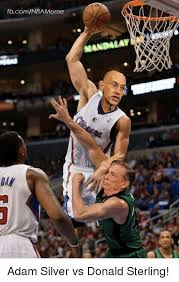 Donald Sterling Memes - fbcomnba meme mandalay adam silver vs donald sterling meme on me me