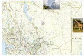 Adventure Map Kenya National Geographic Adventure Map National Geographic