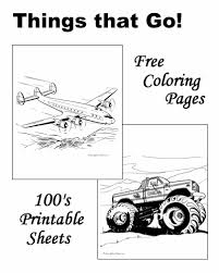 coloring pages airplanes boats cars trains trucks