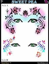airbrush face painting template sweet pea by donna nowak always