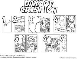 days of creation coloring pages pertaining to invigorate to color