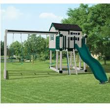 Flexible Flyer Backyard Swingin Fun Metal Swing Set How To Anchor A Metal Swing Set Metal Swing Sets And Swings