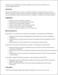 Resume Templates For Accountants Professional Staff Auditor Templates To Showcase Your Talent