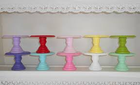 small cake stand wood cupcake or mini cake stand pedestal choose your color